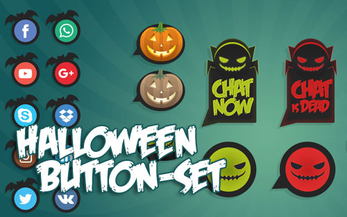 Halloween Live Chat Buttons
