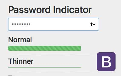 Password Meter Bootstrap 4
