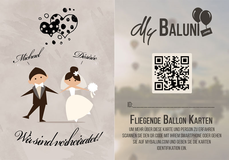 heusser wedding balloon card
