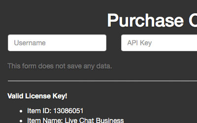 Envato Api Purchase Code