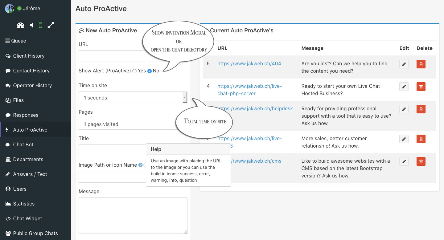 live chat 3 auto proactive