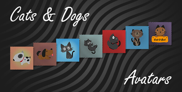Live Chat Cats and Dogs Avatars