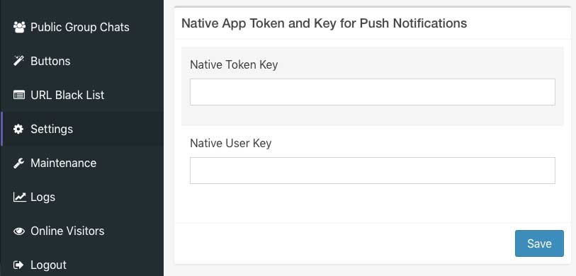 push notifications native key and token