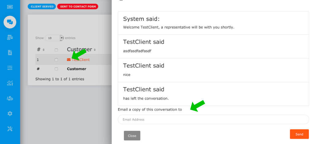 send transcript to any email address