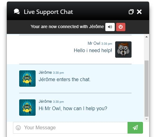 Live Chat Black Design