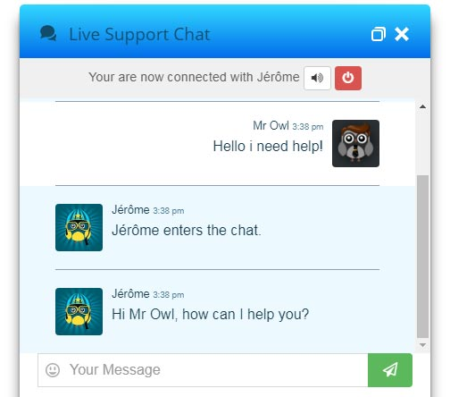Live Chat Bluelight Design
