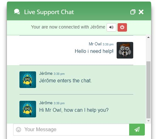 Live Chat Green Design