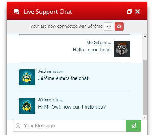 Live Chat Red Design