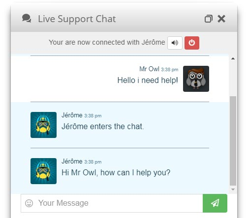 Live Chat White Design